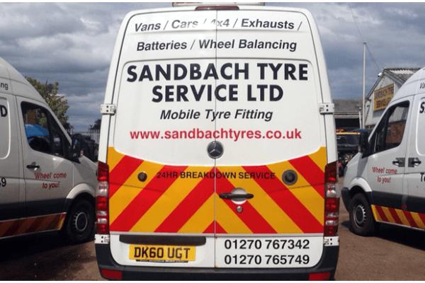 mobile tyre repairs, Sandbach, M6, A500, South Cheshire